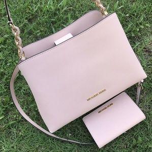 Michael Kors SofiaSATCHEL BAG+ Slim Wallet Set